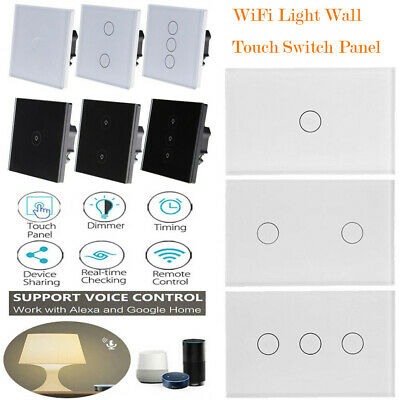 Smart Wifi Wall Light Lamp Touch Switch Panel APP for Amazon Alexa Google Home
