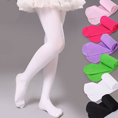 Children Kids Girls Solid Velvet Dancing Socks Pantyhose Foot Tights Candy color
