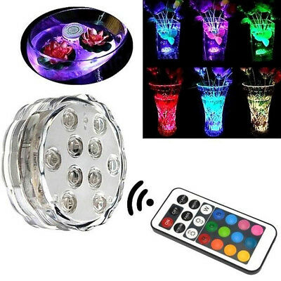 Colorful Remote Control Underwater Submersible LED Light for Fish Tank Aquarium