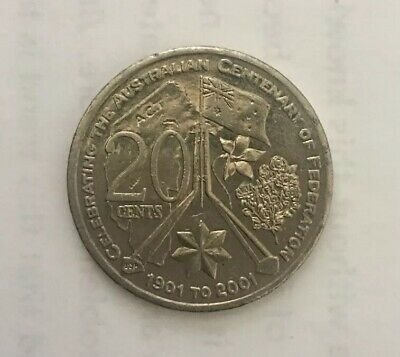 2001 Centenary Of Federation 20 Cents Coin - Australian capital Territory