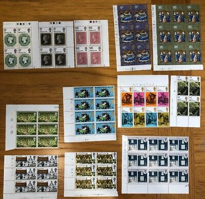 Miscellaneous Mint Unmounted 1970 Commemorative Pre-Dec Stamps Cylinder Blocks