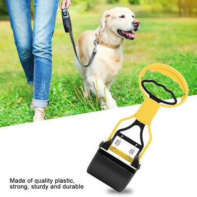 Pet Pooper Scooper Dog Outdoor Poop Waste Pick Up Handle Remover Home Yard Clean
