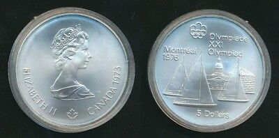 Canada 1973 $5 .925 Silver ASW 24.30g Montreal Olympics