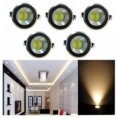 10x LED Recessed Small Cupboard Cabinet Spot Lamp Ceiling Light White//Warm White