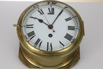 MARINE or SHIPS CLOCK by COVENTRY ASTRAL good working order CENTRE SECONDS HAND