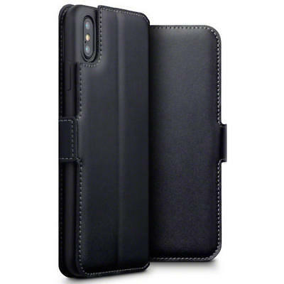 Terrapin Low Profile Real Leather Wallet Case for Apple iPhone XS Max - Black