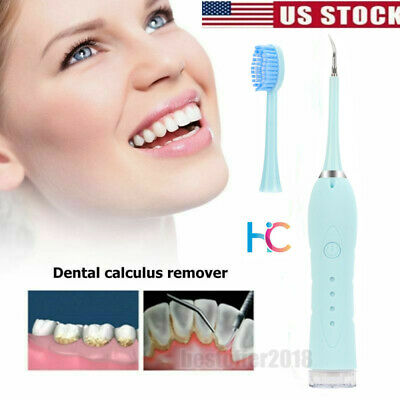 Blue Ultrasound Dental Calculus Tartar Scraper Stain Remove Teeth Whitening USB