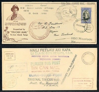 Niuafoou Tin Can Mail, Canoe Mail, Selten, Jubilee Cover 1938, Tonga Briefpost !