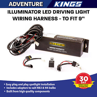 LED Driving Light Wiring Harness Kit for 9inch Plug & Play Adventure Kings