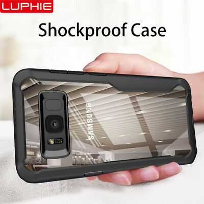 LUPHIE Case For Samsung Galaxy S9 S8 Note 9 A8 Armor TPU Shockproof Transparent