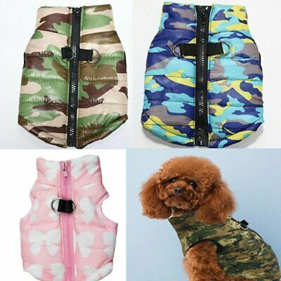 Winter Dog Coats Pet Cat Puppy Chihuahua Clothes Hoodie Warm for Small Dog Puppy