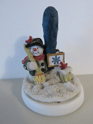 Cute Snowman Cookie Press Stamp With Snowflake Design NEW