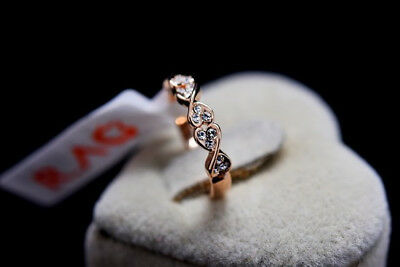Women's Engagement Genuine Rose Gold 1.95 ct Eternity Diamond Ring size 8
