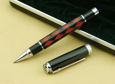 Duke Carbon Fiber Rollerball Pen Black & Red Rhombus Deep Sea Shell with Box
