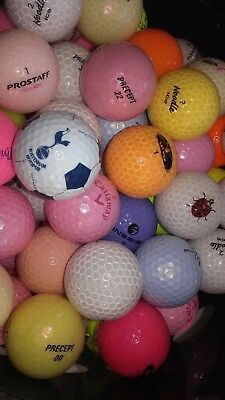 100 balles de Golf de collection, couleur, ice...GRADE AAAA/AAA