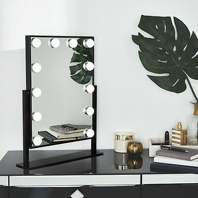Beautify Lighted Makeup Vanity Mirror with 12x LED Dimmer Lights Hollywood Style