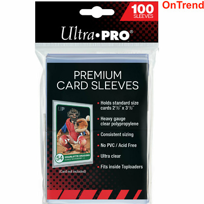 100 ct. Ultra Pro Premium Card Protector Sleeves for MTG Pokemon Vanguard Yugioh