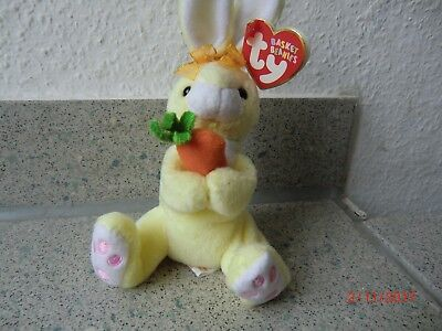 """Hase bunny ty Basket Beanies """"Nibbles"""" 14 cm"""