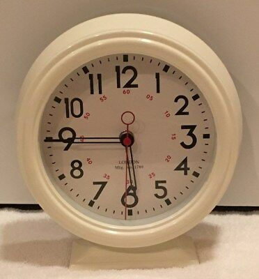 Three Hands Corp White Battery Ed Quartz Display Home Deco Metal Clock