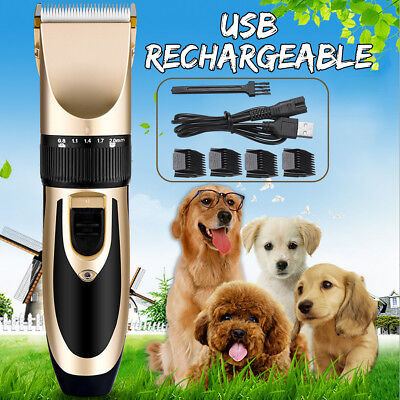 Electric Animal Clippers Pet Trimmer Dog Cat Hair Cordless Grooming Comb Shaver