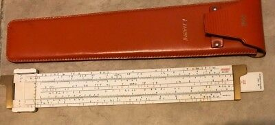 K&E Keuffel Esser ANALON 68-1400 Engineering Science Analysis Slide Rule w/ Case