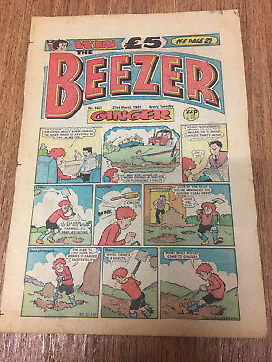 Beezer Comic No 1627 21st March 1987, Vintage UK, DC Thomson, Free UK Postage