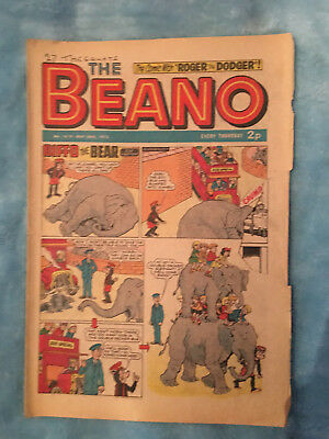Beano Comic No 1610 May 26th 1973, Vintage Biffo the Bear, FREE UK POSTAGE