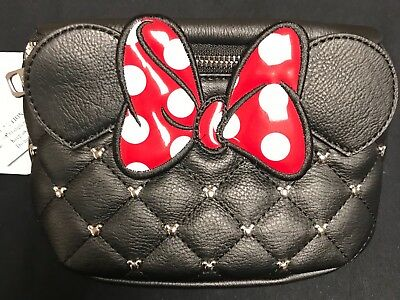 Loungefly Disney Fanny Pack Minnie Mouse With Ears Bow Coin Bag Purse Wallet
