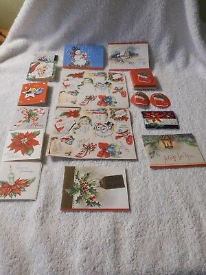 Lot Of Vintage Gummed Christmas Seals & Package Gift Tags
