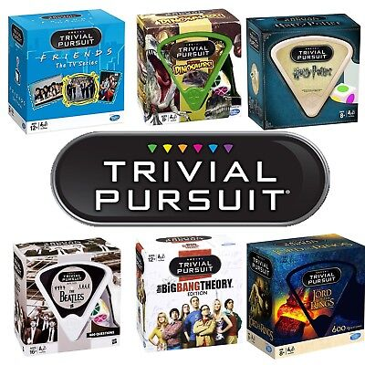 Trivial Pursuit Friends, Harry Potter, The Beatles, Lord of The Rings, Dinosaurs