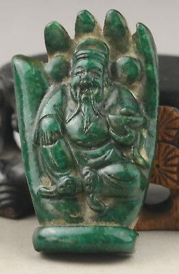 Chinese old natural jade hand-carved buddha statue pendant NO.E997