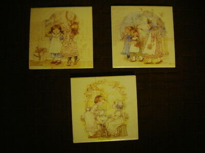 Holly Hobbie Tile  Coasters , Collectable Vintage Items