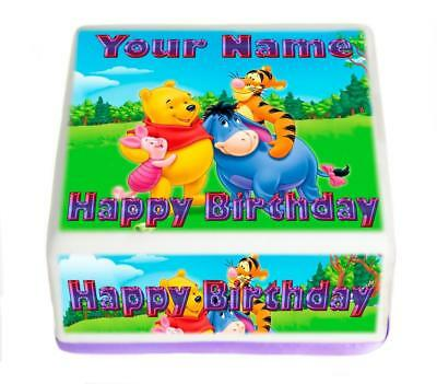 Winnie The Pooh Edible Cake Topper Square Rice Paper Or Icing