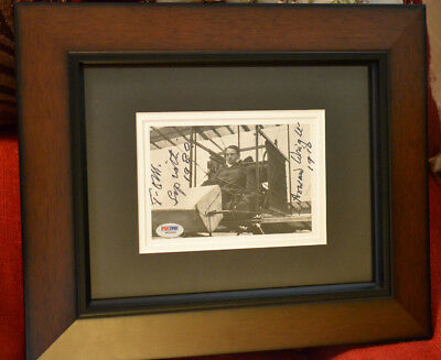 NEW!! Aviator/Inventor Thomas Sopwith Autographed Wright Aircraft Picture - PSA