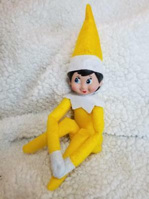 Fast Ship! USA New Christmas ELF Yellow Girl doll elves gift holiday blue eyes