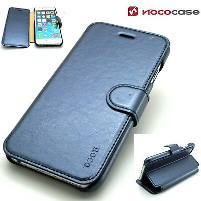 eaff65070599 Case For Apple iPhone 6 6s - Hoco Luxury Genuine Real Leather Folio Wallet  Cover