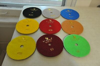 Stadea 5 Inch Wet Diamond Sanding Disc Polishing Pads Concrete Stone Lot of 9