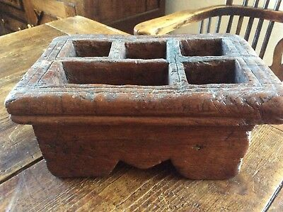 Antique Wooden Spice Stand Box Container Kitchen Dining Room Kitchenalia