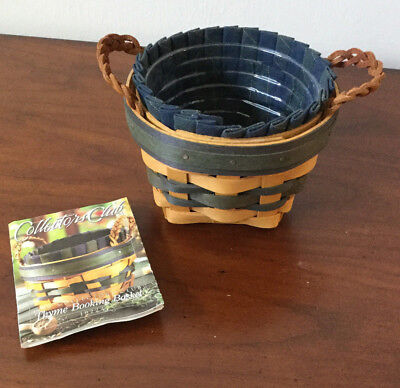 Longaberger 1998 Collectors Club Thyme Booking Basket Combo