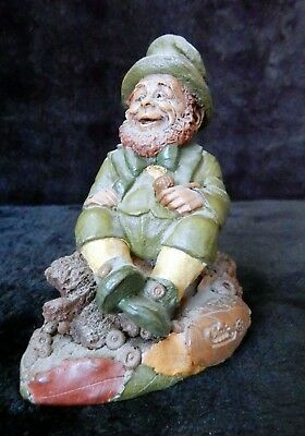 """Tom Clarke for Cairn Studio 1995 Collectable Wood Sprite / Gnome """"Malarkey"""" 5290"""