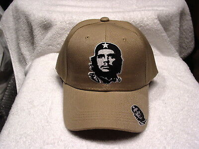 CHE GUEVARA FACE BALL CAP HAT TAN NEW