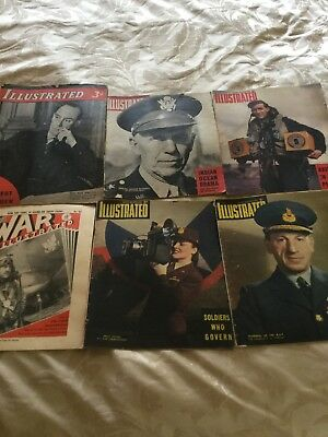 Job Lot Illustrated  x 6 1941 To 1944. World War 2 History....