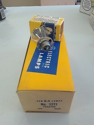 Box Of 10 General Electric Ge Lamps No 1271 24V 40Cp  Nos Tractor