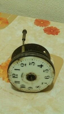 Vintage movement, brass case & enamel face for old spelter case mantel clock