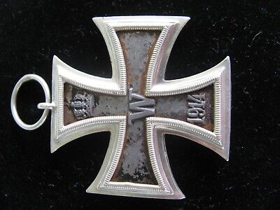 German Iron Cross Silver? WW1 Marked 1813 1914 and W