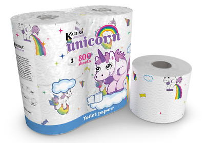 UNICORN Toilet Paper Tissue 4 Rolls Pack - Birthday Party Gift Limited Edition