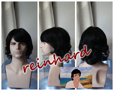 The Little Mermaid -Prince Eric cosplay anime Wig