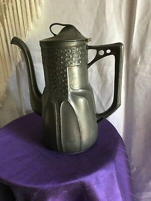 Secessionist Orivit pewter coffee pot