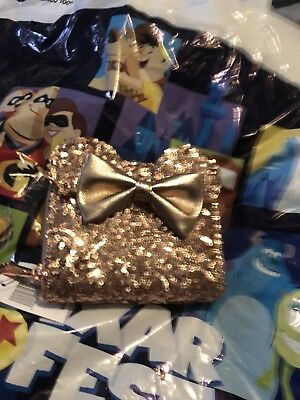 Disney Parks Rose Gold Minnie Mouse Ears Wallet By Loungefly