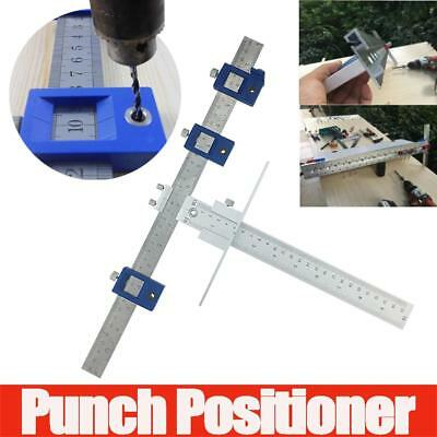 UK Punch Locator Drill Guide Sleeve Cabinet Hardware Jig Drawer Pull Wood Dowel